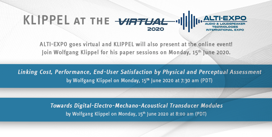 KLIPPEL at ALTI-EXPO